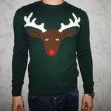 свитер мужской новогодний с оленем рXS