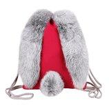 Спортивный детский школьный рюкзак сумка с мехом зайка для девочки подарок