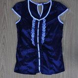Красивая атласная блуза