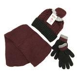 Комплект шапка, шарф, перчатки Детский 7-12 лет