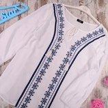 F&F блузка 48 размер с вышивкой вышиванка 48 р