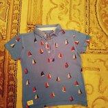 Крутая футболочка в стиле Поло от Next Парусники 2-3г.