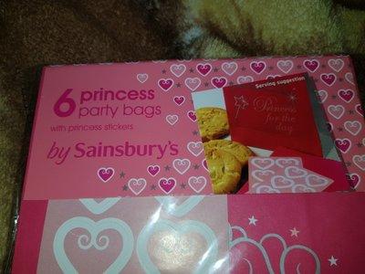 Красивые упаковочные 6шт пакеты для принцесс