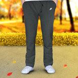 Теплые спортивные штаны Nike. Прямые и под манжет.Есть цвета