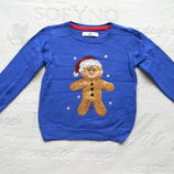 новогодний свитер M&S на 1,5-2 года.