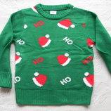 новогодний свитер F&F на 5-6 лет.