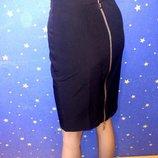 Шикарная юбка в обтяжку на золотой змейке ткань мемори на размер хс/ххс арт.89