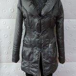 Красивая теплая куртка серая размер 44