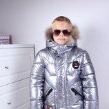 Зимняя куртка для мальчиков Серебро Зима 2019