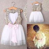 Детское нарядное платье с оригинальной спинкой, 4-8 лет, новое