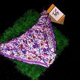 Трусики цветочные сатин хлопок отличного качества на резинке сentro м/л размер