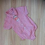 Новый фирменный бодик рубашка tu малышу 1-1,5 года