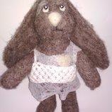 Коллекционная игрушка зайка зайчик кролик ручная работа кукле кукла фетр