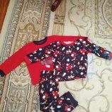 Очень симпатичный Новогодний комплектик на малыша 1.5-2года.