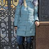 Удлиненная зимняя куртка 48-58 размеры в цвете брокард куртка Mika mir-148