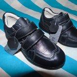 Кожаные туфли - кроссовки р.27,28