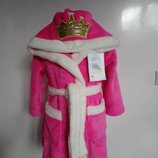 Теплый, мягкий детский махровый халат с капюшоном