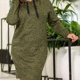 Теплое платье из ангоры-софт хл размеры 48-54 скл.1 арт.47321