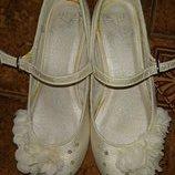 Белые нарядные туфли Next. Стелька 20 см