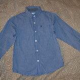 рубашка мальчику Rebel на 7-8 лет рост 128 Англия