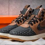 Зимние ботинки на меху Nike LF1 Duckboot, коричневые