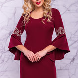 Шикарное нарядное платье с вышивкой 1013