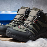 Зимние ботинки на меху Adidas Terrex Gore Tex, хаки