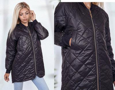 4e8a2ab222c Previous Next. Продано  Женская стильная куртка на синтепоне 1686 Плащёвка  Ассиметрия Ромбик Змейка
