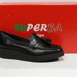 Шикарні шкіряні туфлі-лофери Superba, Італія-Оригінал