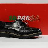 Шикарні шкіряні туфлі-оксфорди Superba, Італія-Оригінал