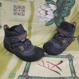Кожаные утепленные ботинки Geox Waterproof р 27-18см