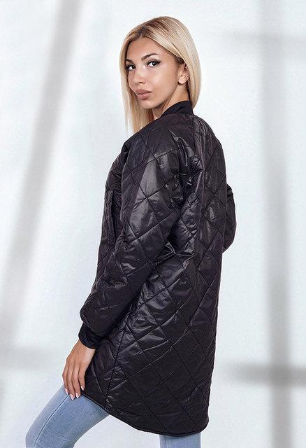 a28fa6b5c7b Женская стильная куртка на синтепоне 1686 Плащёвка Ассиметрия Ромбик Змейка  .  815 грн - демисезонная верхняя одежда в Одессе