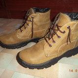 Ботинки высокие, зимние, р.43, натур.кожа, натур.мех