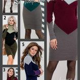 42-48 Теплое вязаное платье офисное, Женское платье, Теплое вязанное платье Эльза