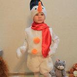 Новогодний карнавальный костюм Снеговика от 3 до 7 лет