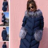 р.110-158 Детская зимняя куртка пуховик пальто, биопух, Nui Very, Банни