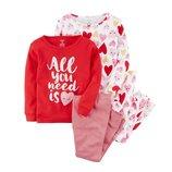Набор из 2х хлопковых пижам для девочки Carters сердечки