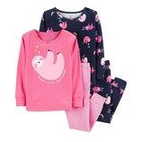 Набор из 2х хлопковых пижам для девочки Carters ленивец
