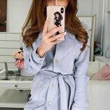 Платье-Рубашка замша искусственная 42-44