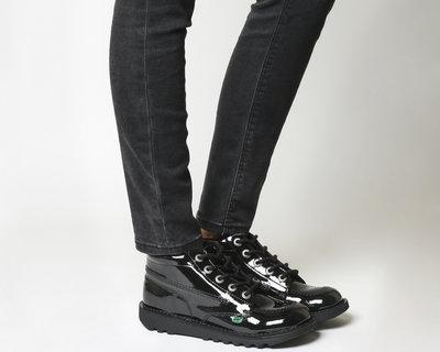 fa86b84c90d1 Высокие ботинки Kickers Kick Hi кожа лак 37 размер оригинал