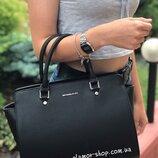 Женская сумка Michael Kors MK Мк жіноча сумка Черная чорна
