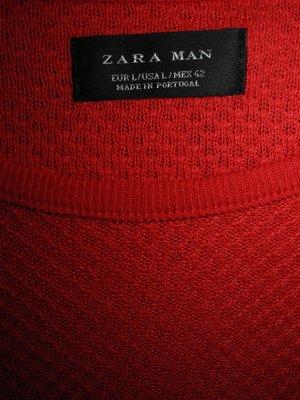 Мужская кофта реглан красная ZARA Man L