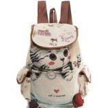 Стильный детский рюкзак с котенком.