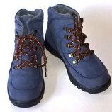 Теплющие зимние ботинки Тм Orthobe 35, 36 р. натуральный нубук, натур. мех
