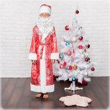 Новогодний карнавальный костюм Деда Мороза от 3 до 9 лет