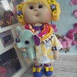 текстильная интерьерная куколка Принцесса Маруся
