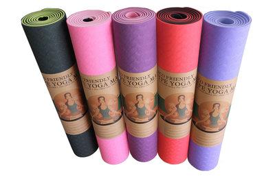 Коврик для фитнеса и йоги двухслойный TPE 3426 толщина 6мм, размер 1,83x0,61м