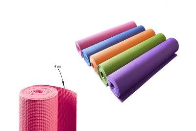 Коврик для фитнеса и йоги 0359 гимнастический коврик 173х61см, толщина 4мм 5 цветов