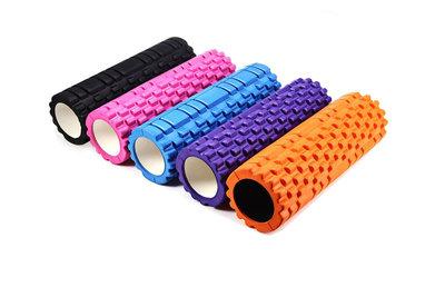 Роллер для йоги массажный Grid Roller 0852 5 цветов, длина 33см