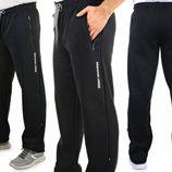 Теплые трикотажные мужские спортивные брюки, штаны с начесом, р-р 48-56